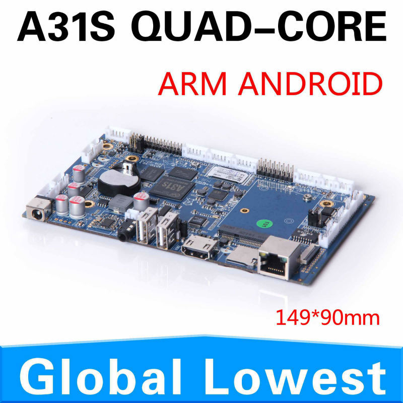 Best quality! XCY A31S high-end miniature motherboard integrated Mini industrial motherboard Android 4.1/4.2 small motherboard(China (Mainland))