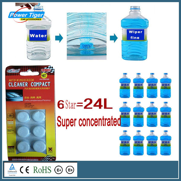 6 Pcs/Pack Amazing New Arrival Auto Windscreen Cleaner Car Windscreen Cleaning Agent Pills Effervescent Tablets Glass Water(China (Mainland))