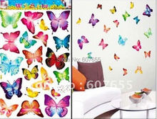 Hot sale!20set/lot(21pc/set),butterfly decoration wall sticker,room sticker,wall paper(3size) sticker - HOUSEHOLD-- Ellie Shao's store