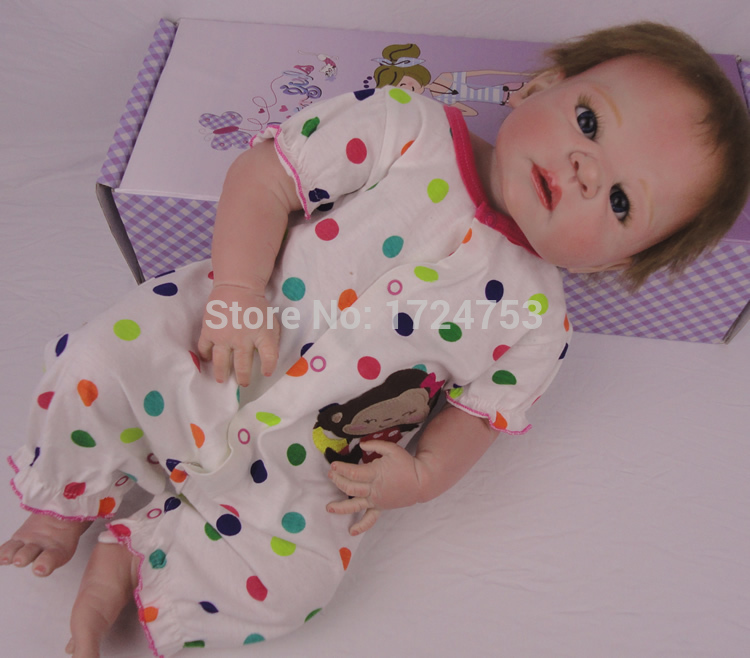 Realistic 23inch Reborn Baby Doll Lifelike Soft Silicone Baby Toys Handmade  Baby Alive Doll Collectible Love Baby Doll<br><br>Aliexpress