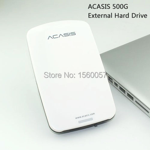 Good price Free shipping 2.5  ACASIS Original USB2.0 External Hard Drive 500GB Mobile Portable HDD Disk Plug and Play On Sale<br><br>Aliexpress
