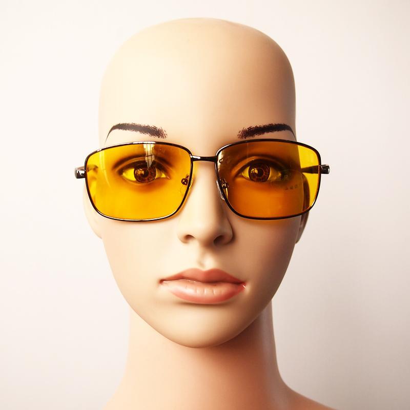 New Black Night Vision Aviator Driving Anti Glare Glasses Car Driver Kit