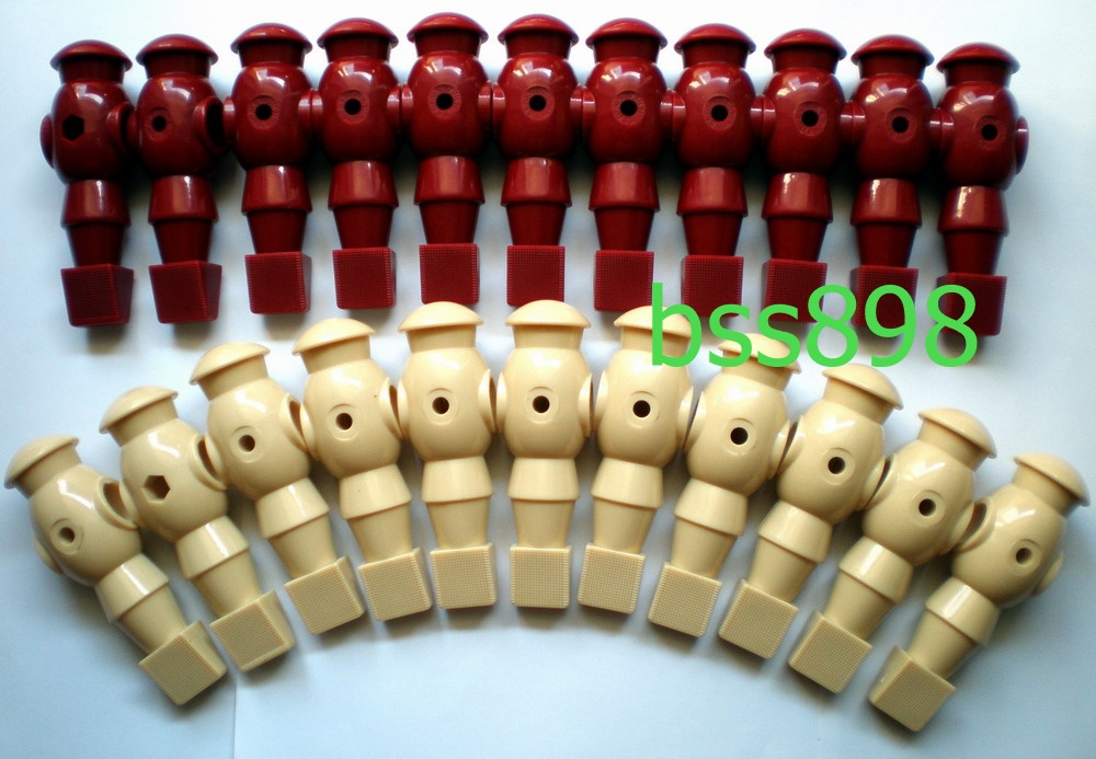 """FREE SHIPPING 22pcs/lot ivory/wr 5/8"""" rod Foosball Soccer Table football man Player men replacement parts(China (Mainland))"""