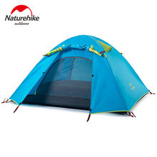 NatureHike 3-4 Person Tent New Arrived 3 season 210*160*115 cm Double Layer Outdoor Camping Hike Travel Play Tent Aluminum Pole(China (Mainland))
