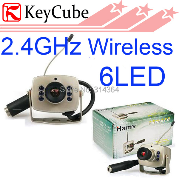 10pcs/lot Mini 2.4GHZ Wireless Color Camera Cam CCTV C208 Night Vision(China (Mainland))
