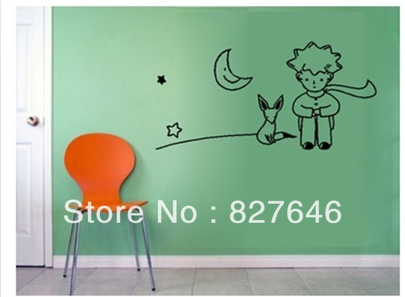 Little Prince Fox Wall Sticker Kid Room Decor Mural Art Vinyl Wallpaper Home Window Glass Decoration Decal - MUMU sticker store