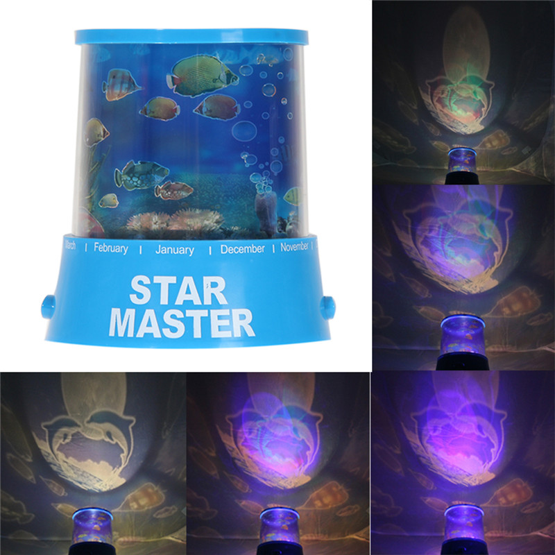 Mysterious LED Ocean Sea Creature Bright Projector Lamp Kids Gift Light Free shipping(China (Mainland))