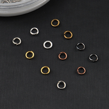 Tone 4mm Circle Open Jumping Rings Findings 3D Nail Art Decorations Jewelry Charms Pendants Connect DIY Nail Tools Box  Beauty