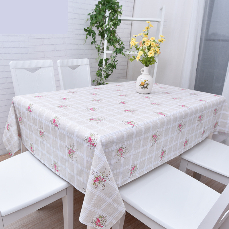Foral Rose Print Table Cloth Wedding Party Decor Rectangular PVC Tablecloth Home Protection Waterproof Desk Table Cover(China (Mainland))