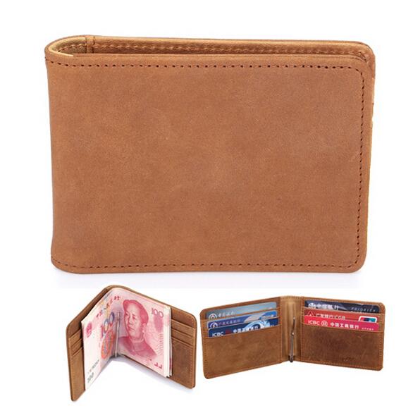2015 men wallets famous brand purses ultra slim wallets for men money clip brand luxury carteiras carteira masculina couro(China (Mainland))