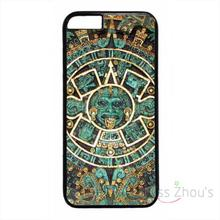 For iphone 4/4s 5/5s 5c SE 6/6s plus ipod touch 4/5/6 back skins mobile cellphone cases cover Aztec Calendar Mayan Pattern