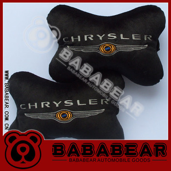 New arrive Car headrest logo neck pillow car pillow chrysler for CHRYSLER