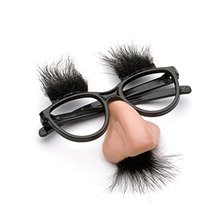 Party Accoutrements Fuzzy Nose and Glasses Classic Disguise Gag Joke Toys(China (Mainland))
