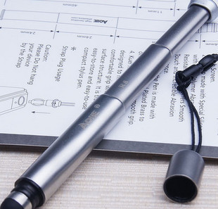 Aojie r8 retractable touch pen  for iphone    for ipad   4 23 stylus lanyard capacitor pen