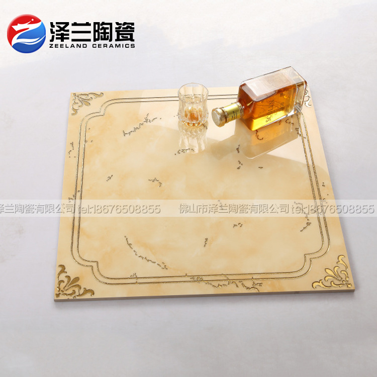 2015 Foshan ceramic tile tile 600 * 600 high-grade gold-plated polished crystal tile floor living room, ceramic tiles wholesale(China (Mainland))