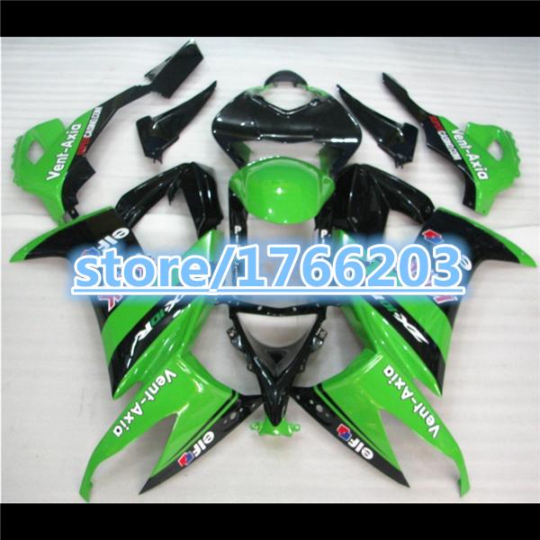 100%NEW GREEN BLACK Fairings For ZX-10R 2008 2009 2010 ABS Fairings KAWASAKI NINJA ZX10R ZX-10R 08/09/10(China (Mainland))