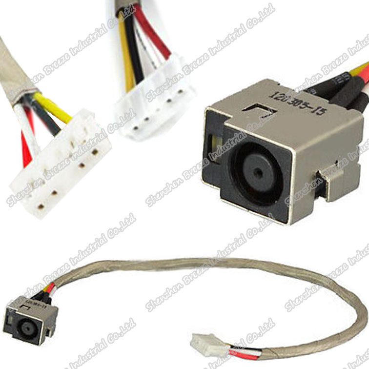 Free Shipping Tested Working Brand new Laptop DC Power Jack connector socket Cable wire harness for HP DV7 DV7-1000 series(China (Mainland))