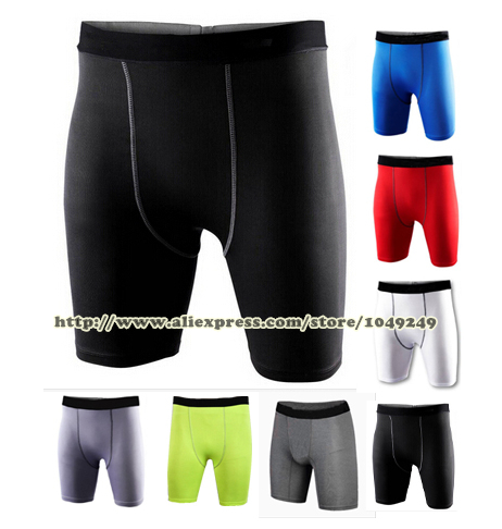 New 2015 DRI-FIT Brand Sport Shorts Men Compression Wear Basketball Training Tight Skin Fitness Trousers Plus size(China (Mainland))