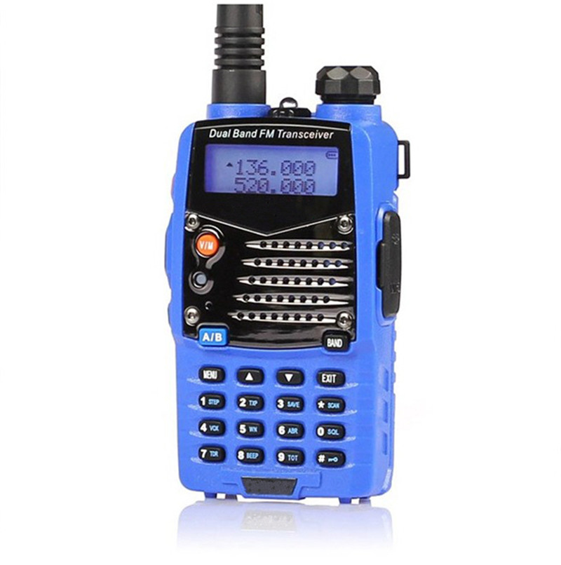 1 Set Blue Dual Handheld Transceiver Radio Walkie Talkie For Personal Safely Security(China (Mainland))