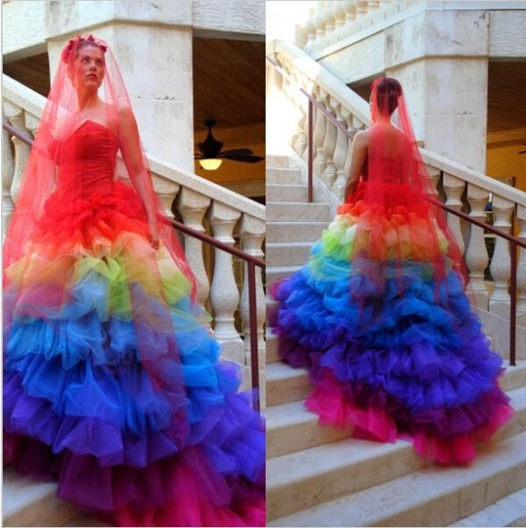 Popular Rainbow Wedding Dresses Buy Cheap Rainbow Wedding Dresses Lots From China Rainbow