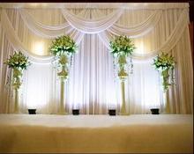 36 m de noce tape clbration fond satin rideau drap pilier plafond contexte mariage dcoration voile wt016 - Drap Mariage Plafond