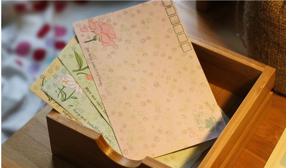 (S 100*75mm)Creative Cute Vintage Sweet flower paper Envelope/DIY Multifunction(China (Mainland))