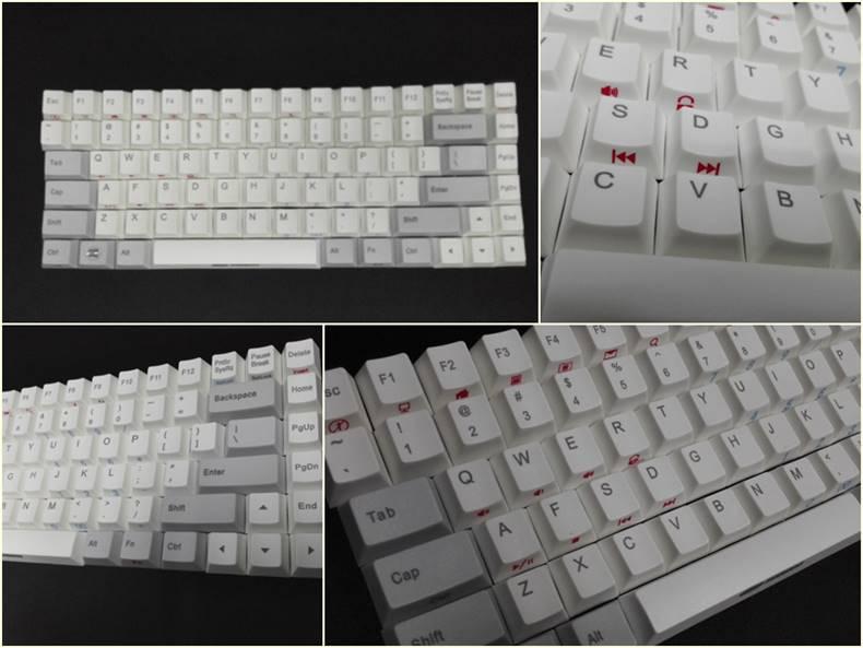 Top print PBT keycap Noppoo choc mini 84 mechanical keyboard noppoo84 gaming keyboard np84 gateron cherry mx switch(China (Mainland))