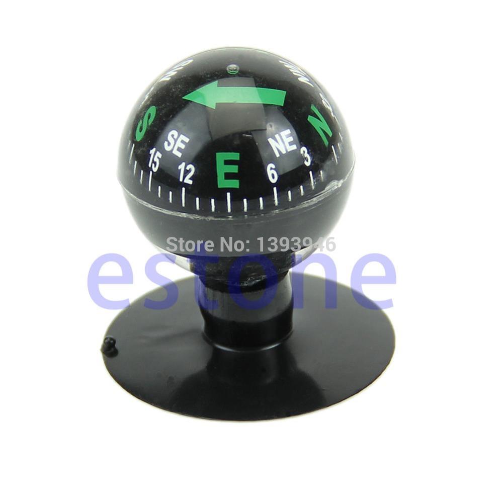 U119 Free Shipping Mini Flexible Navigation Compass Ball Dashboard Suction Cup Car Boat Vehicle(China (Mainland))