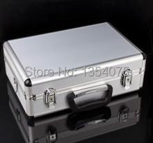 1pc Aluminum case with neck straps for Transmitter , radio ,Walkera radio JR radio,HITEC,ESKY for rc toysfree shipping(China (Mainland))