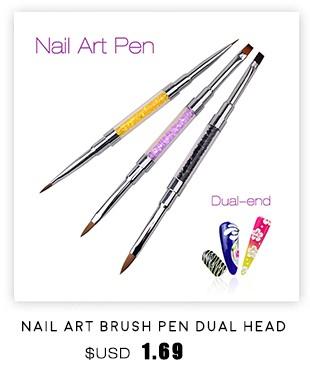 3 Pcs Preto Punho Pontilhando Pintura Desenho Gel UV Polonês Escova de Forro ferramenta Nail Art Pen Set Acrílico Escova Da Arte do Prego Venda 2016 nova