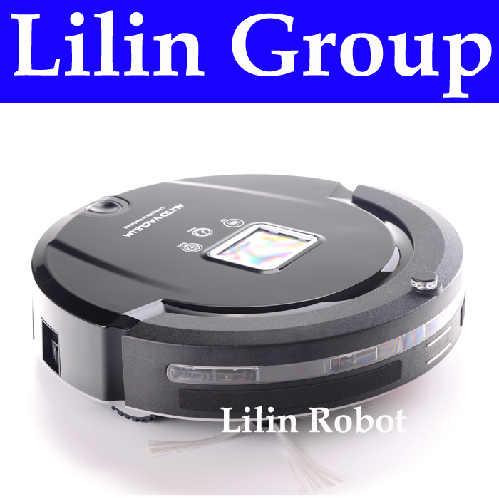 (Free to Chile) Robot Vacuum Cleaner,Multifunction(Sweep,Vacuum,Mop,Sterilize)LCD,TouchButton,Schedule,Virtual Wall,Self Charge(China (Mainland))