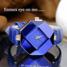 CocoDesign 2015 Fashion Blue Stone Crystal Quartz Watch quartz-watch Women Watches Ladies Woman Violetta(China (Mainland))