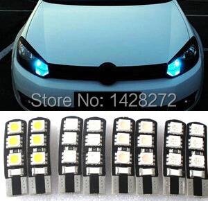 Car Styling 1pcs car T10 12V 5050 5W5 CAR/BOAT/ LED car lights license plate Auto Projector Lens Parking Interior led lamp(China (Mainland))
