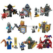 Nexus Knights Castle Knights Minifigure 16pcs/lot Building Block Brick Set Clay Aaron Fox Axl Mini figure compatible with lego