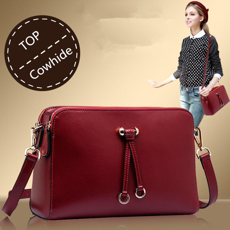 Fashion 2015 Women Brand Shoulder Bag Cowhide Women's Small Crossbody Bag Genuine Leather Designer Messenger Bags High Quality