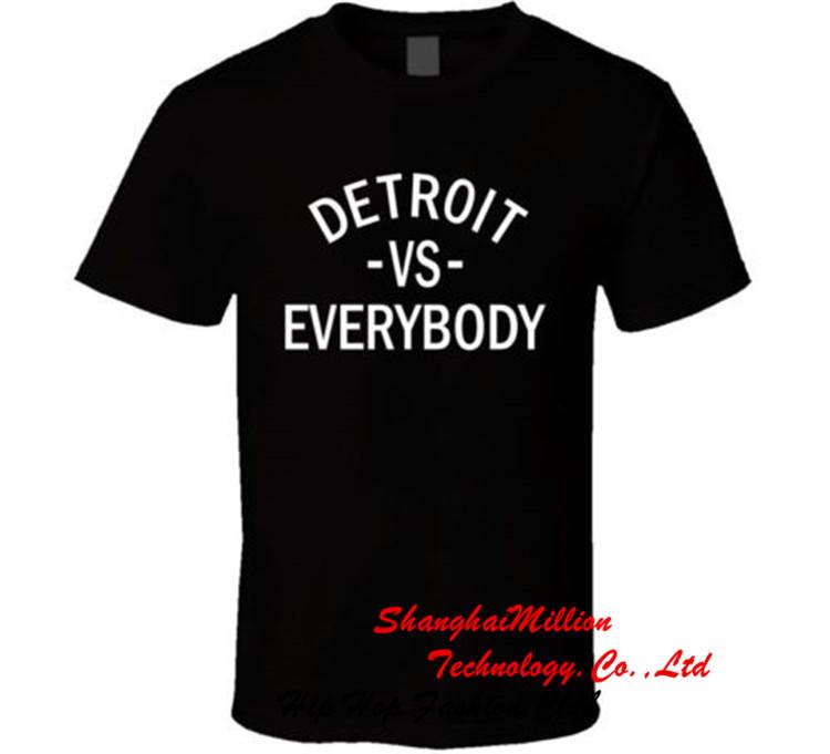 Unisex DETROIT VS EVERYBODY Cotton TEE Hip Hop EMINEM SLIM SHADY Tshirt DE036DX(China (Mainland))
