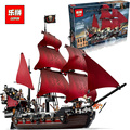 New LEPIN 16009 1151Pcs Pirates Of The Caribbean Queen Anne s Reveage Model Building Kits Minifigure