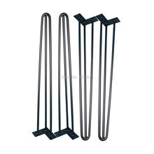 """Free Shipping! 4 pcs 28"""" 3-rod Matte Black Hairpin Legs for high table  ON SALE!(China (Mainland))"""