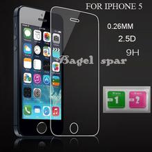 Для iphone 5 протектор экрана для iphone 5S стекло 9h2. 5D 0.26 мм жесткая экран FilmFor iphone 5 стекло для iphone 5 закаленное стекло