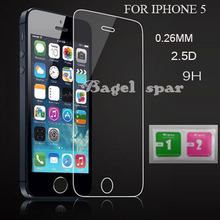 for iphone 5 Tempered Glass for iphone 5 Screen Protector for iphone 5s Glass 9H 2.5D0.26mm Tough Screen Film For iphone 5 glass