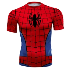 Buy New 3D Print Fitness Spiderman T Shirt Men Tights Fashion Slim Brand T-shirt Men's Compression Marvel Batman Ridding Tshirt for $6.71 in AliExpress store