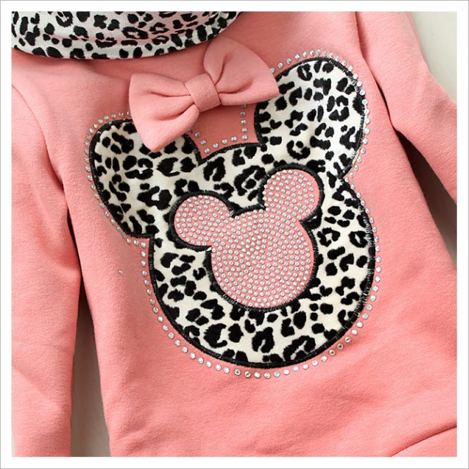 Девушки свитер ребенка леопарда пуловер дети свитера девочки минни толщиной рубашка детей зимнее пальто осень свитер