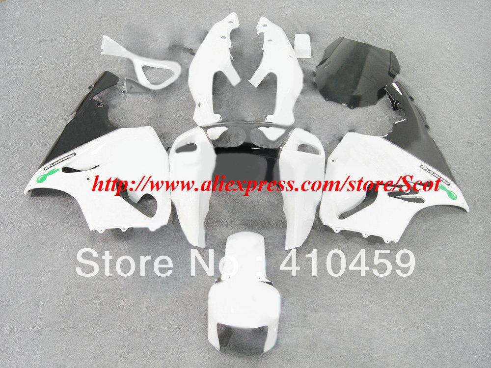 HOT!! White black Fairing for KAWASAKI ZX7R 96-03 ZX-7R 1996-2003 ZX 7R 96 97 98 99 00 01 02 03 7R 1996 2003 body kit(China (Mainland))