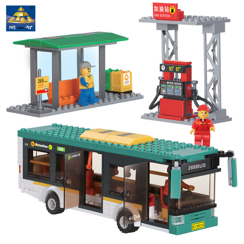 Kazi Friends Buses Model Building Blocks Compatible with all brandPlastic Bricks Original Technic Designer Educational Toys Boys(China (Mainland))