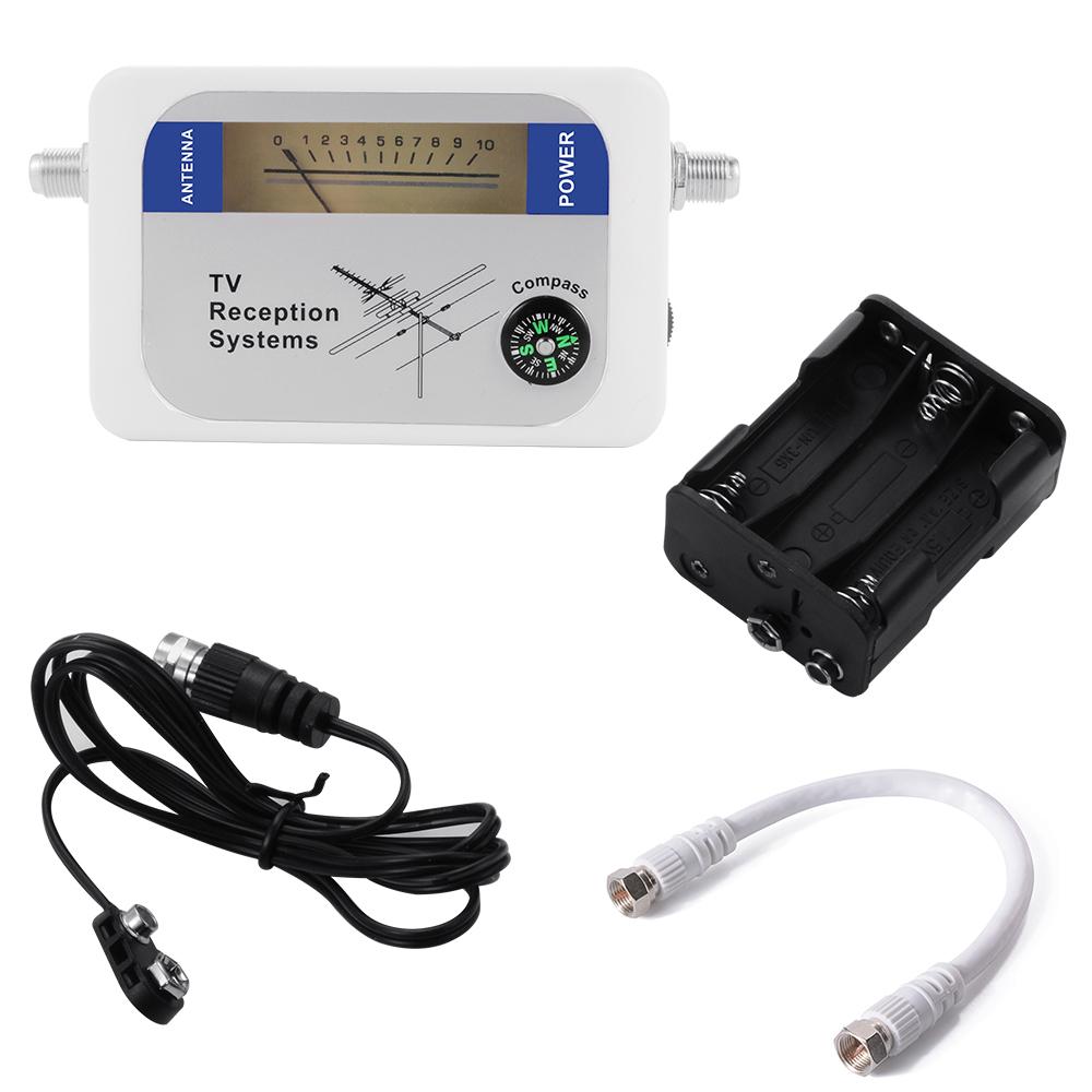 Mini Satellite Signal Finder Satfinder Directv Strength Meter Antenna FTA Dish With Compass BI154(China (Mainland))