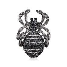Animale Insetti Spille di Rame Pistola di Colore Nero Perla Simulata Spider Spilla Donne Bambini del Vestito Del Cappotto Abbigliamento Accessori(China)