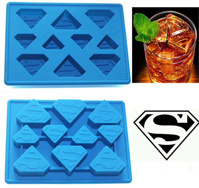 Funny Star Wars Superman Ice Cube Tray Ice Cream Tools Frozen Popsicle Ice Mold Sorvete Moulds Party Drink Ice New Tricks Maker(China (Mainland))