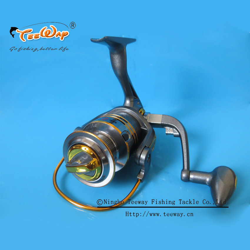 DB-3000 Teeway Brand Metal Spinning Fishing Reels Carp Ice Fishing Gear 5.2:1 Real 6+1BB Spool fishing tackle(China (Mainland))