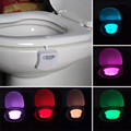 8 Color Bathroom Toilet Night Light LED Body Motion Activated Seat Sensor Lamp with Color Setting
