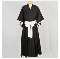 Hot New Free Shipping Bleach Anime Black&White Shinigami Kimono Cosplay Costume Anime Products